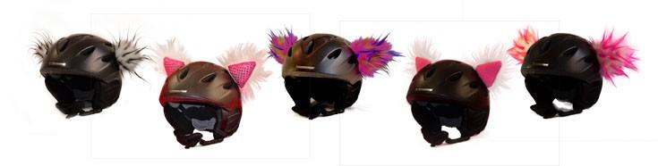 Skihelmfellohren mit deinen Helm zum Hingucker auf er Piste.