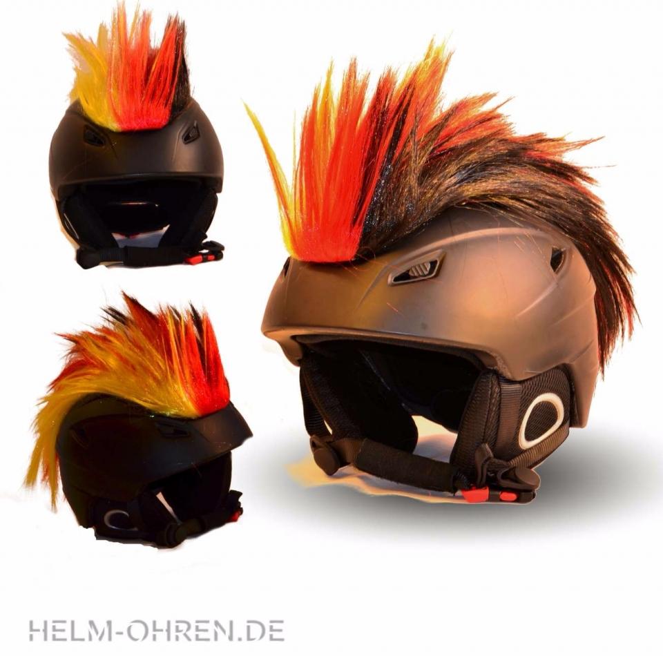 Helm Irokese Deutschland Farben