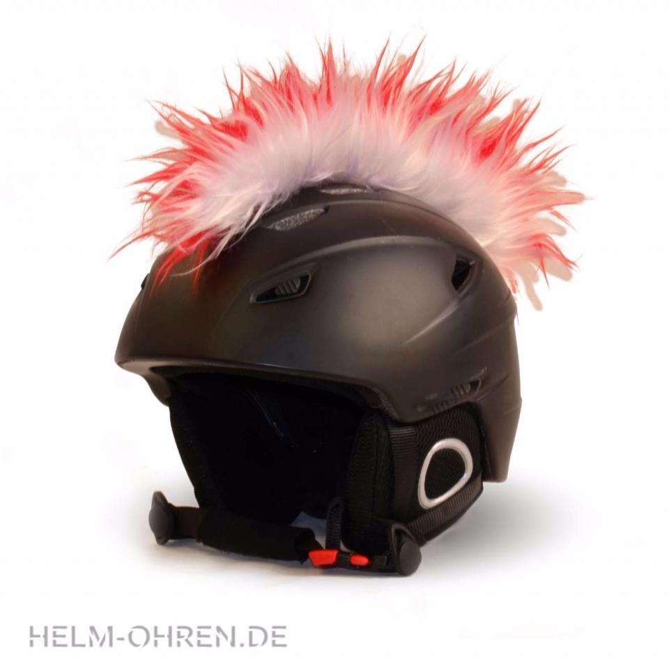 Irokese Helm - Rot-Weiß