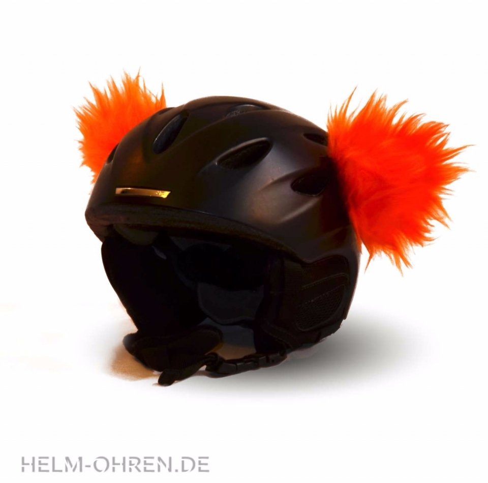 Skihelm Ohren Orange